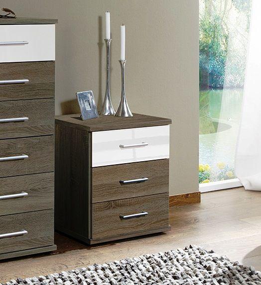 Gastinau Bedside Cabinets In Montana Oak And White 223317