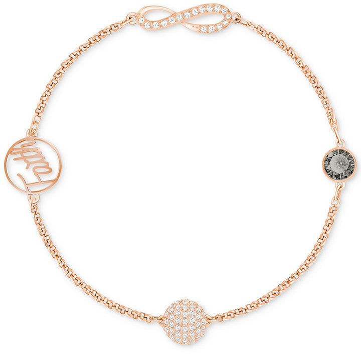 Swarovski Remix Collection Rose Gold-Tone Crystal Faith and ...