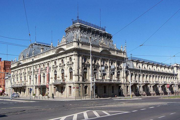 Łódź - Pałac Izraela Poznańskiego - Лодзь ,  Дворец  Израиля  Познанского.