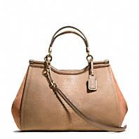 Coach :: MADISON LARGE MADELINE EAST/WEST SATCHEL IN TEXTURED LEATHER