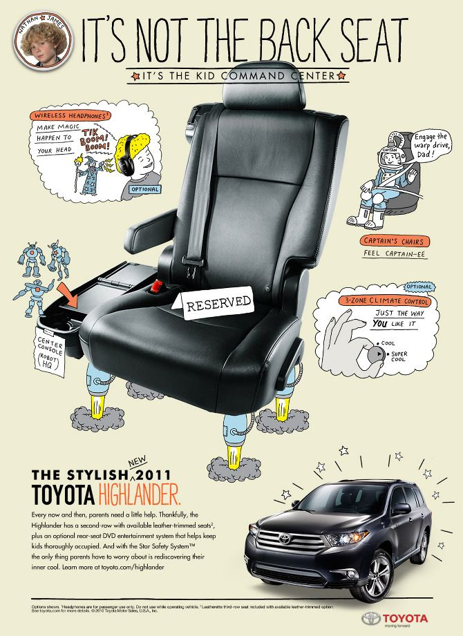 very cool ad toyota made for the highlander back in 2011 toyota scion pins pinterest. Black Bedroom Furniture Sets. Home Design Ideas