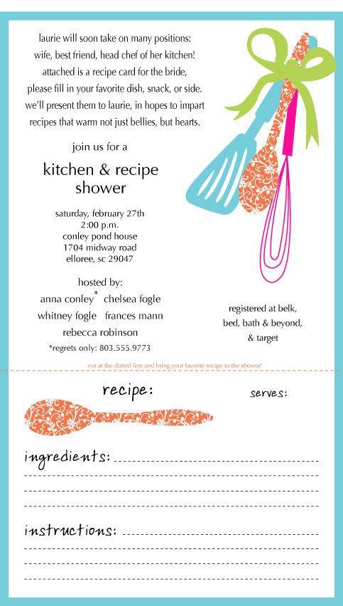 Kitchen Shower Invitation