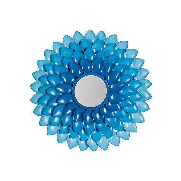 Mirrors Eliana Wall Mirror Blue Wall Mirrors ($169) ❤ liked on Polyvore