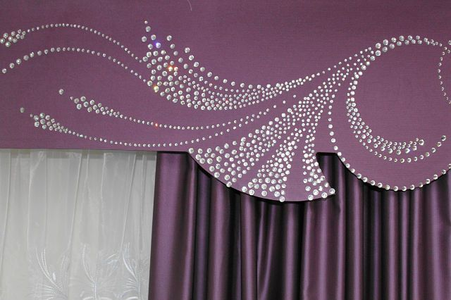 Custom cornice with bling.