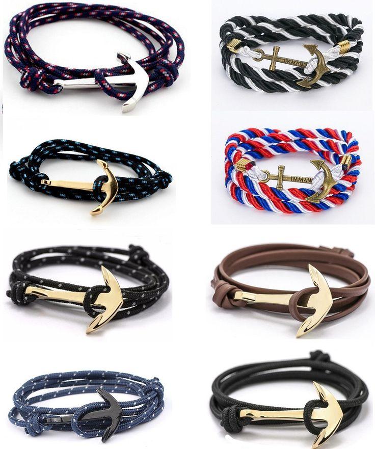 Bracelet Ancre Marine Anchor Homme Femme Réglable Gourmette Hope Bijoux 2017 | eBay