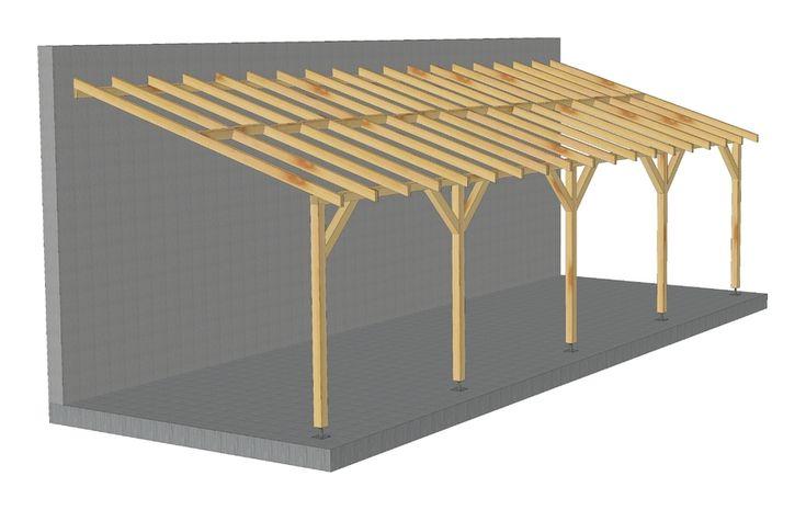Toit De Terrasse 9x3 Pente 30 Bois Massif Durable Vis Pieds De Poteaux Reglables Jardinatoire Fr En 2020 Table Basse Terrasse Toit Bois Massif