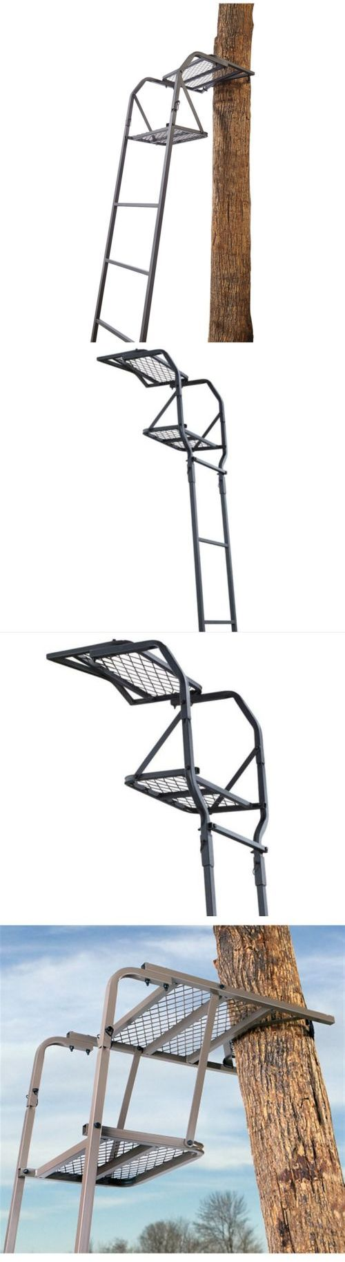 Tree Stands 52508: New 15 Hunting Climbing Ladder Tree Stand Treestand Man Seat Bow Deer Game Hunt -> BUY IT NOW ONLY: $69.97 on eBay!