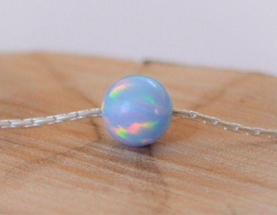 Opaal ketting opaal bal ketting opaal zilveren ketting door miniLALI