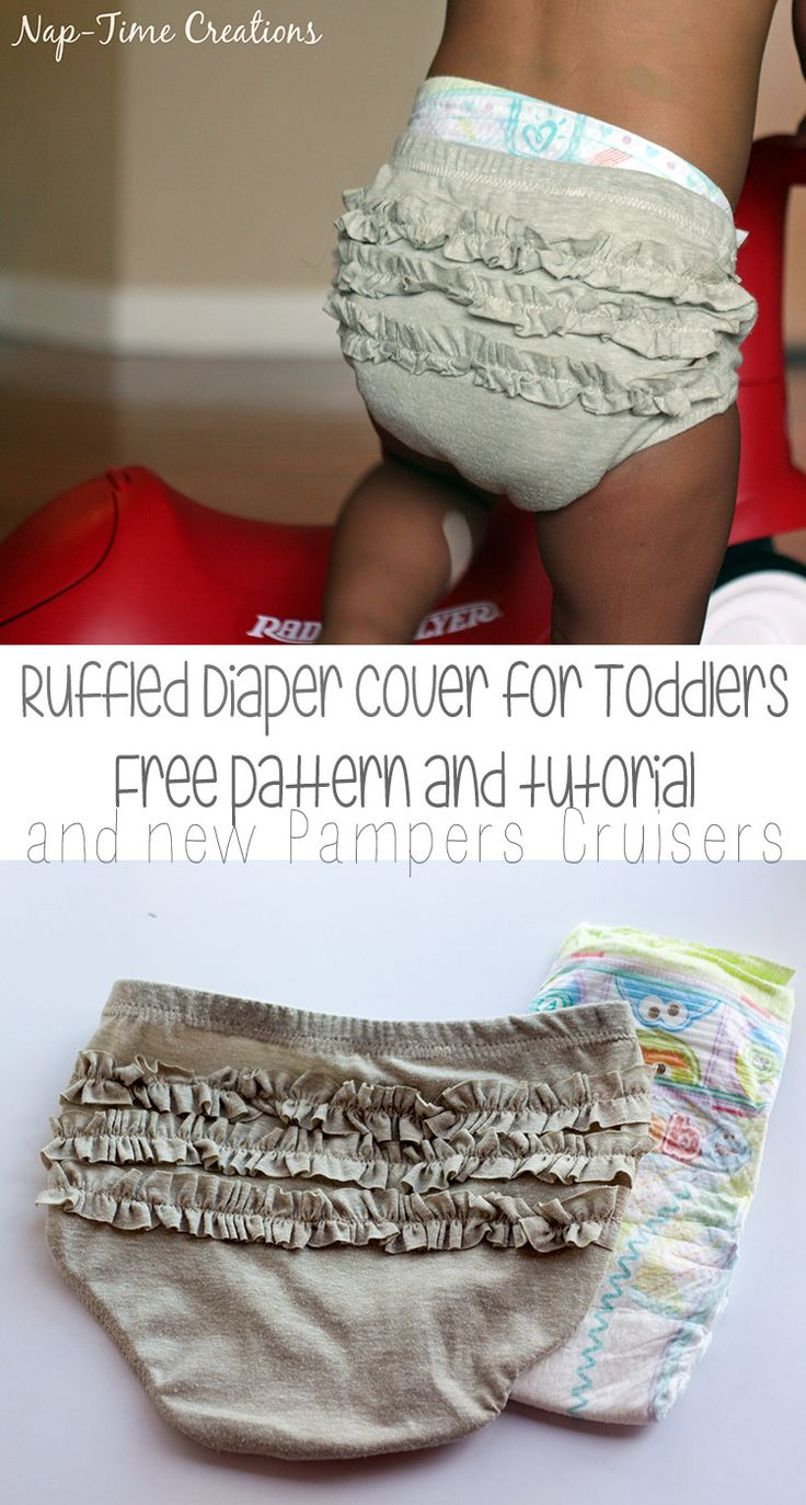 Toddler Diaper Cover Free pattern and tutorial with #PampersCruisersatTarget from Nap-Time Creations {ad}