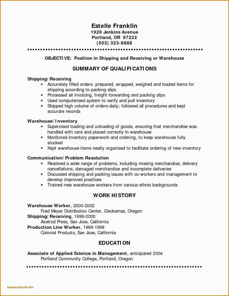 Shipping and Receiving Resume Best Of Shipping and