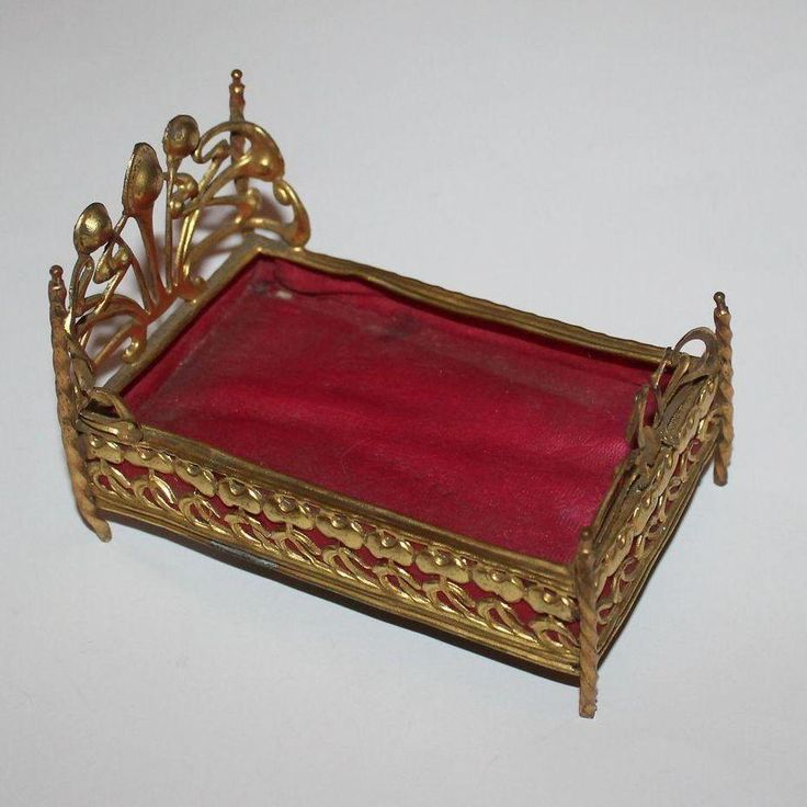 Vintage Dolls House Antique Ormolu Erhard & Sohne Bed #3328 | eBay