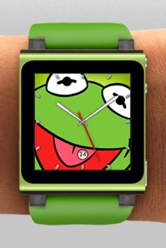 ipod nano watch face options. loving kermit