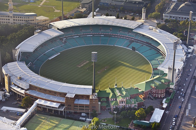 Early morning at the Sydney Cricket Ground