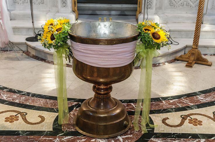 #basil#sunflowers#bouquet for the baptismal font