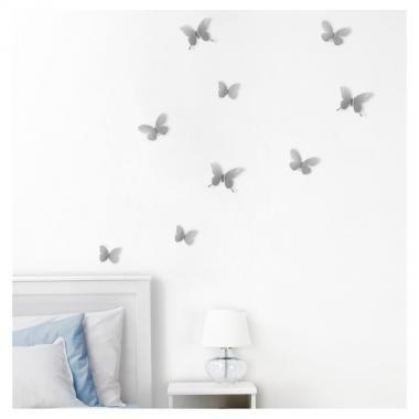 Wanddecoratie 'Mariposa' (nikkel)
