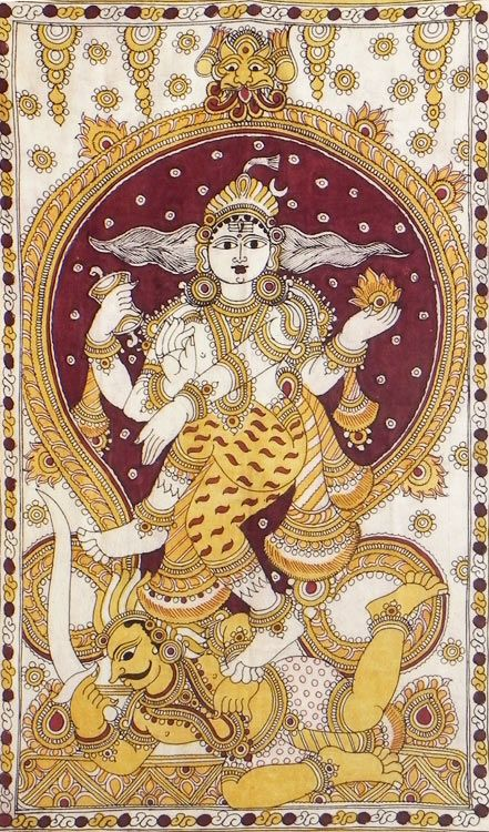 Nataraja (Kalamkari Paintings on Cotton - Unframed))