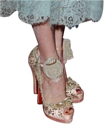 124309907847 Christian Louboutin Pink Limited Edition Marie Antoinette Pumps Platforms  Size US 9 Regular (M