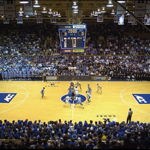 Duke vs Unc at Cameron Indoor-Go see a Duke vs UNC game at Cameron.