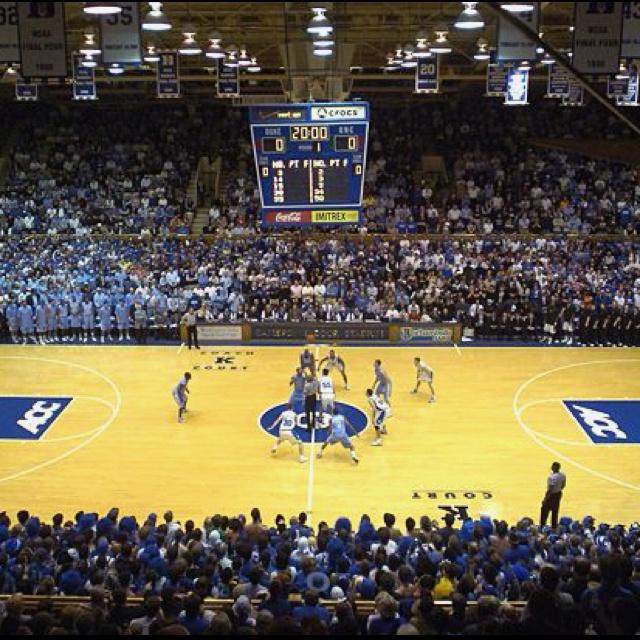 Duke vs Unc at Cameron Indoor-Go see a Duke vs UNC game at Cameron.