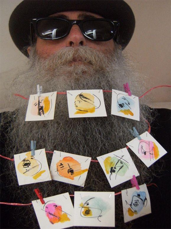 BEARD GALLERY - Opere di Guido Capuano installate sulla mia barba (Galleria Pensile)