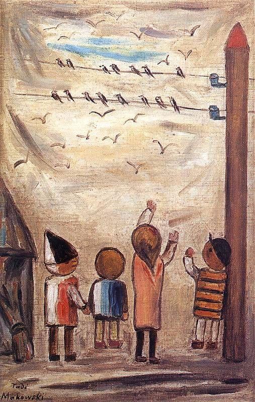 Odlot jaskółek. Olej na płótnie 1931 roku.