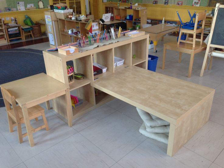 Expedit Preschool Children's Table + Shelving - IKEA Hackers