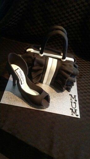 High Heel Shoe & Handbag Cake for my Mum