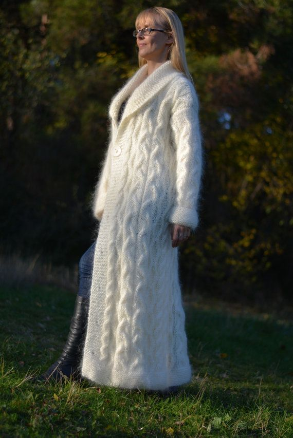 READY hand knitted mohair cardigan handmade mohair by Dukyana