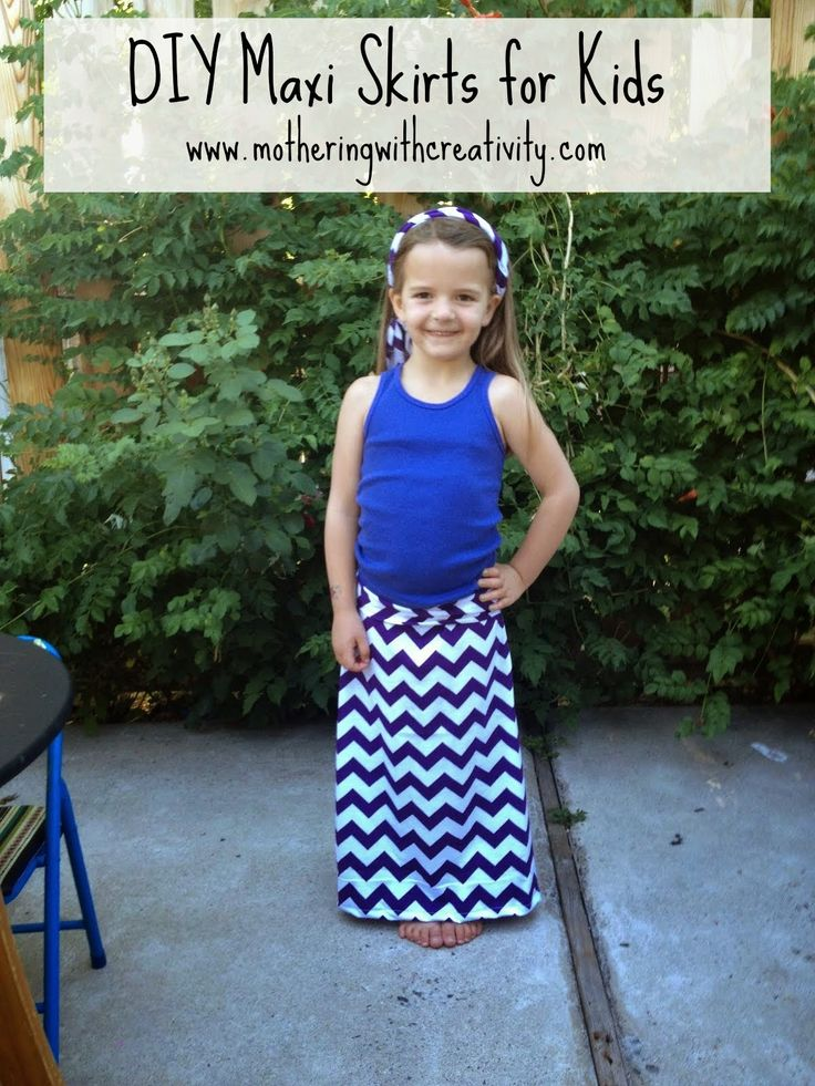 mothering with creativity diy maxi skirts for