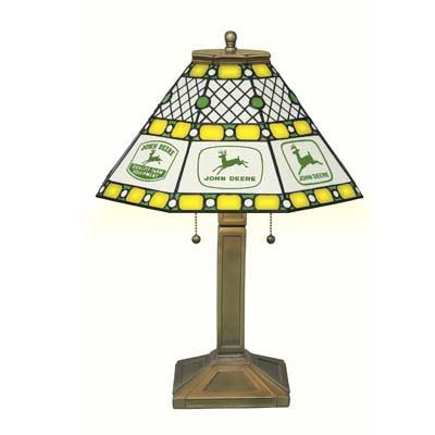 The John Deere Stained Glass Lamp