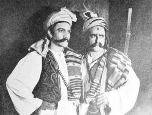 Prem Nath and Prithviraj Kapoor.