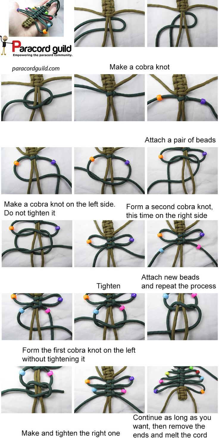A tutorial on the paracord christmas tree.
