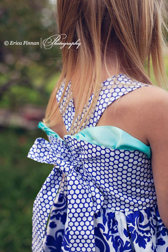 Girl's Boutique Ruffle dress PDF pattern tutorial for