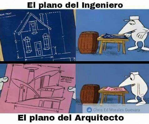 Plano del ingeniero vs Plano del arquitecto