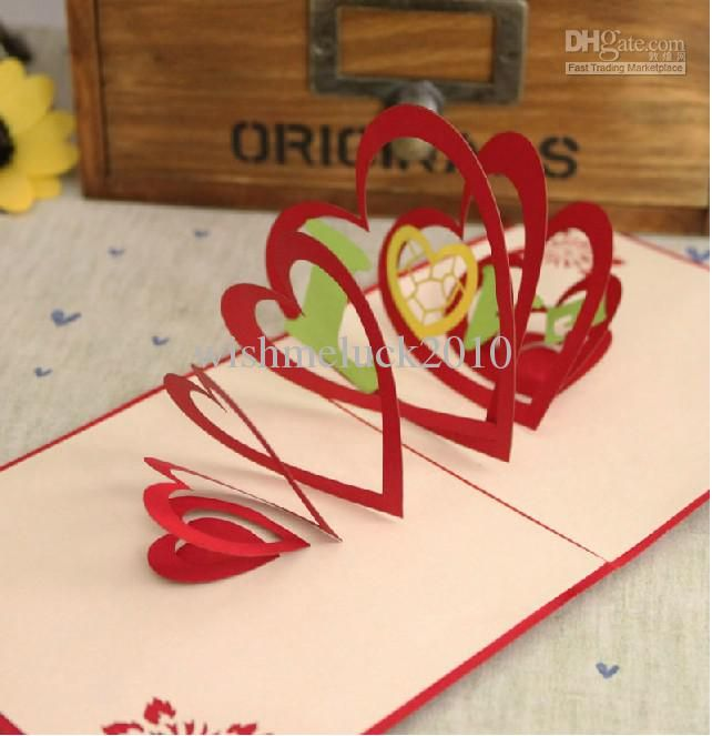 Show Your Love To Her or Him!!! Creative Handmade Pop Up Greeting cards/Gifts Cards/Valentine's Card