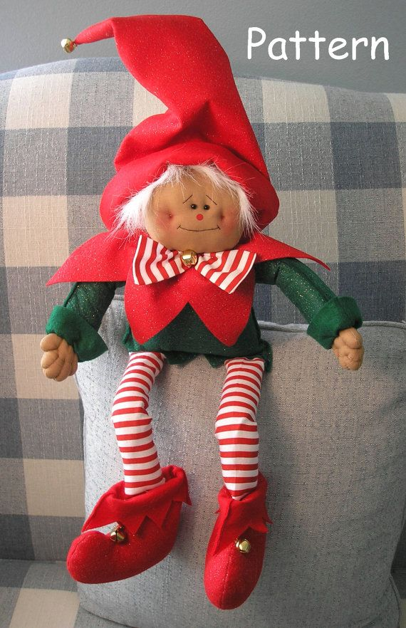 This pattern is in an E-pattern format. You will receive a color print, full-sized pattern pieces and instructions to make this adorable Elf Doll (approx. 23).  This is for an instant download pattern. Your pattern will be available for download in your Account, under Purchases after you pay. You must have the most recent Adobe Reader to open, read and print this pattern as its a PDF File (you can download that for free at www.adobe.com). This doll may be made and sold on Etsy, eBay, your…
