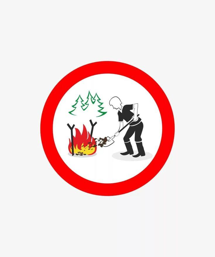 Костер в лесу картинки для детей запрещающие знаки