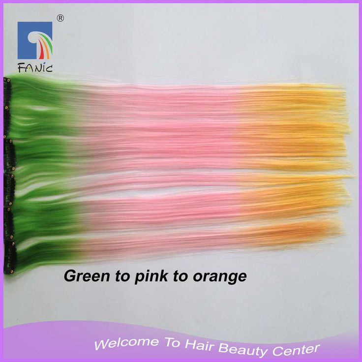 """10pcs 16-17"""" Clip in Straight Synthetic Colored Hair Extensions Party Cosplay http://ift.tt/2x7xTEZ"""