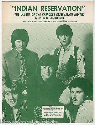 THE RAIDERS LAMENT OF THE CHEROKEE RESERVATION INDIAN SONG VINTAGE SHEET MUSIC