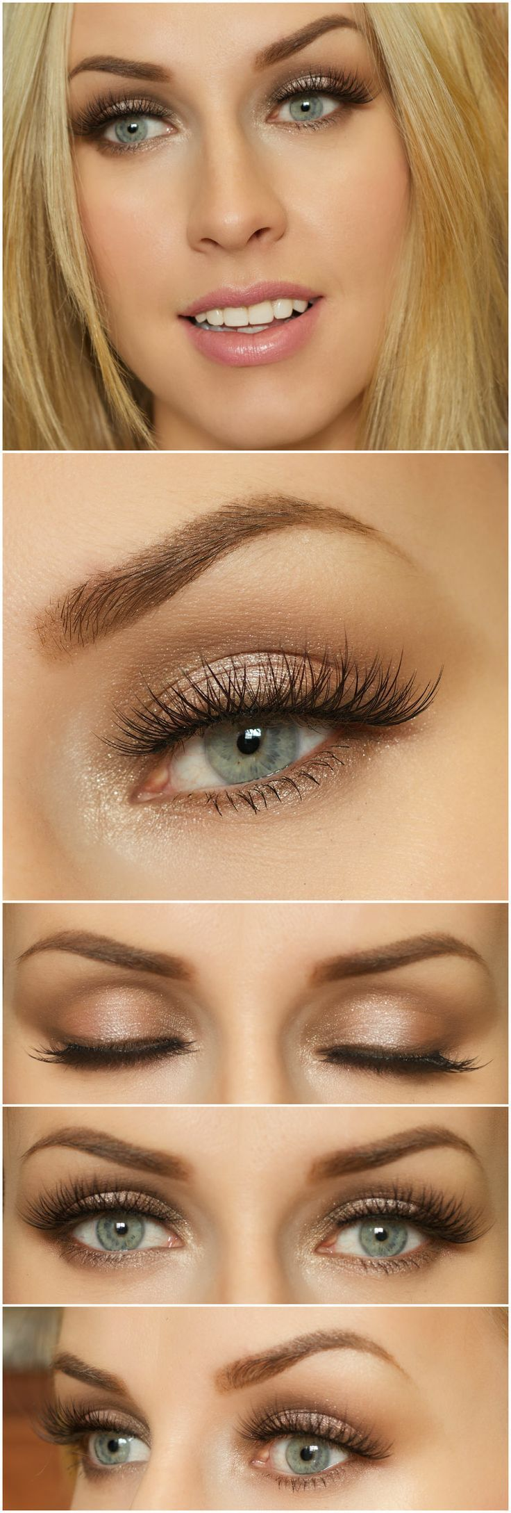 Frosted Chocolate Eyes # Fall Shimmer smokey eyes ...