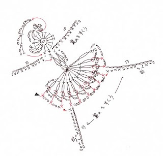 Crochet ballerina applique free pattern