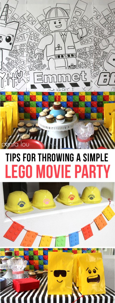 Tips for throwing a fun a simple lego movie party - find the piece of resistance!