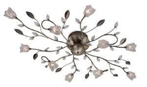 Cindy 10 Light Flush Ceiling Light | Firstlight  | 8362AB | Luxury Lighting