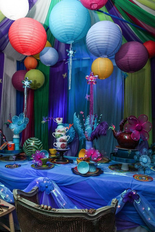 Alice in wonderland theme mad hatter tea party for Alice in wonderland tea party decoration ideas