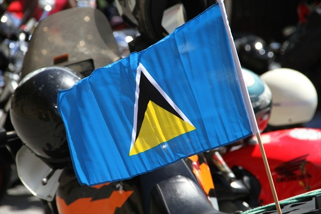 The flag of St Lucia