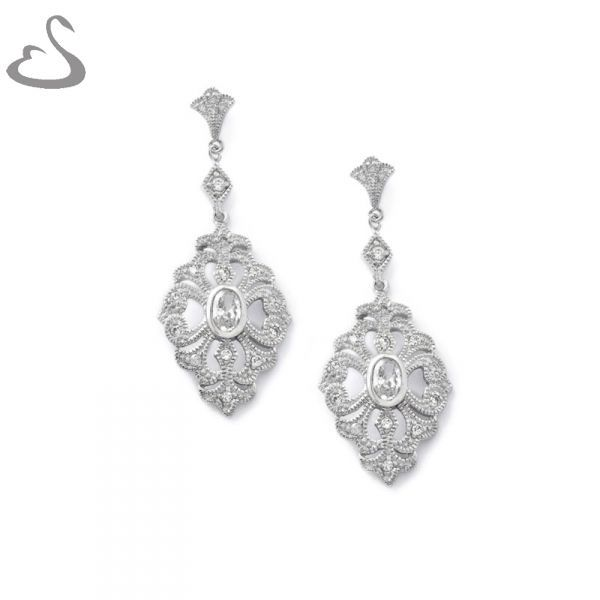 925 Sterling Silver and Cubics. Code: ER-131. Company: Vera's Bridal Collection. Website: www.verasbridalcollection.co.za