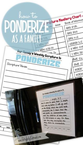 """General Conference Brother Durrant """"Ponderize"""" the scriptures was an excellent talk!! Find tons of free printables to help your family """"Ponderize"""" and memorize the scriptures this week! Join the challenge!! #LDSCONF #PONDERIZE"""