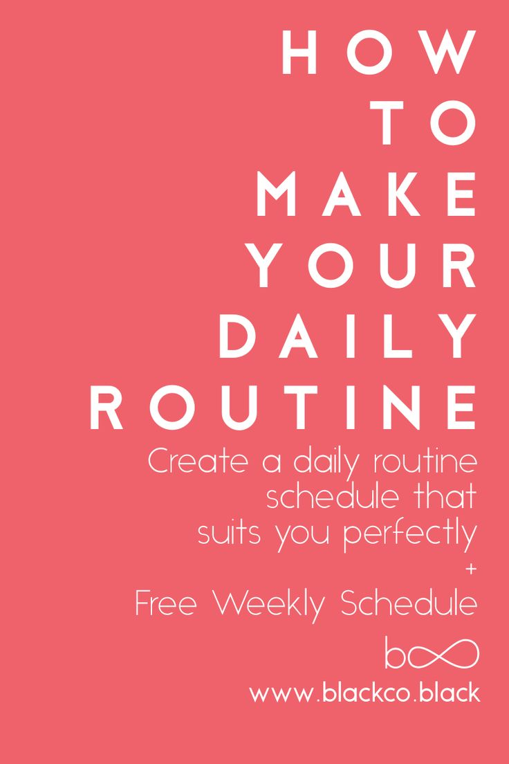 Create a daily routine schedule that suits you perfectly. Follow the steps to create a daily routine that will help you to achieve your life goals. Get the Free Weekly Schedule!