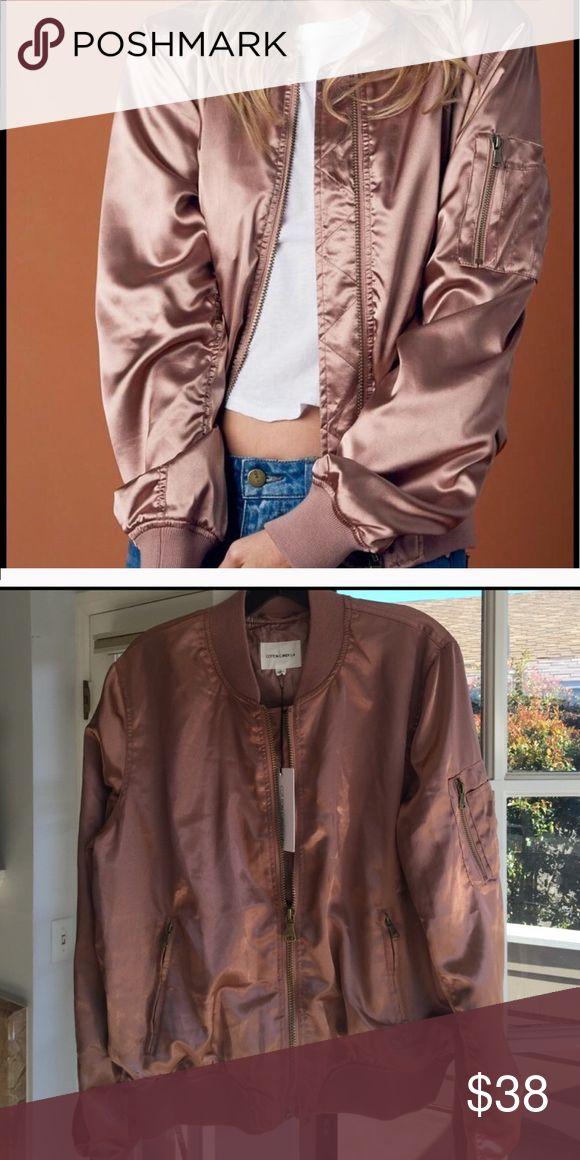 NWT Rose gold bomber jacket NWT rose Gold bomber jacket super cute these are the last two I have in my stock price is firm!❤️ Jackets & Coats