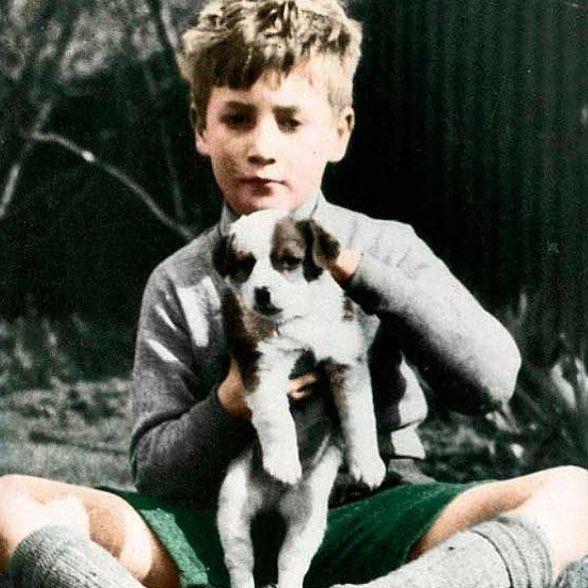 John Lennon as a child.